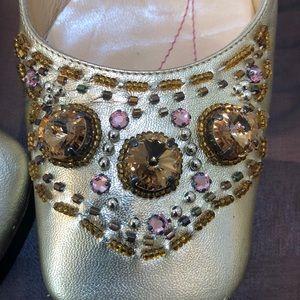 Kate Spade Shoes - Kate Spade Gold Flats Size 5 1/2